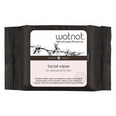 Facial Wipes Oily + Sensitive Skin 25 pack - WOTNOT