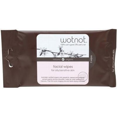 Facial Wipes Oily + Sensitive Skin 5 pack - WOTNOT