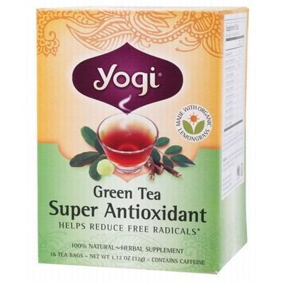 Green Tea Super Antioxidant Tea Bags 16 bags - YOGI TEA