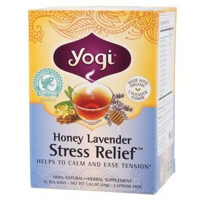 Honey Lavender Stress Relief Tea Bags 16 bagsYOGI TEA - YOGI TEA
