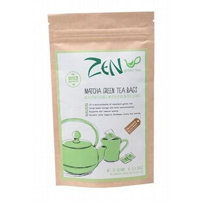 Matcha Green Tea Bags 15 bags - ZEN GREEN TEA