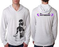 Stormtrooper Light Weight Long Sleeve Hoodie - Heather White