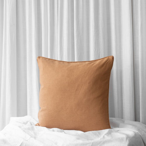 MIA LINEN CUSHION MUSTARD