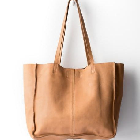 BABY UNLINED TOTE - NATURAL