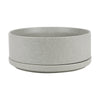 DINNER BOWL & PLATE - GREY STACK, SERVE & STORE