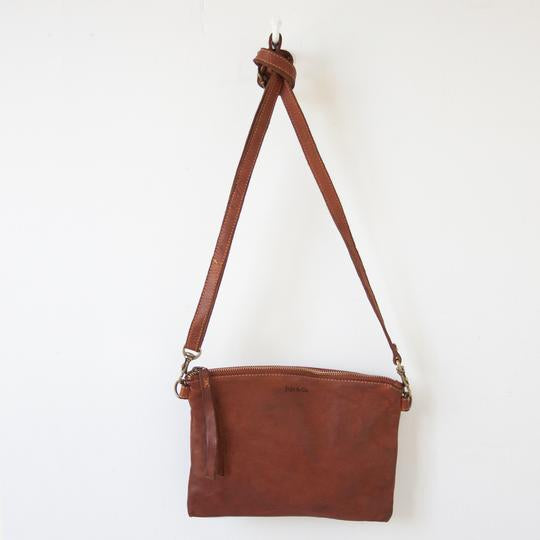 MONTEREY CROSS BODY SMALL - COGNAC