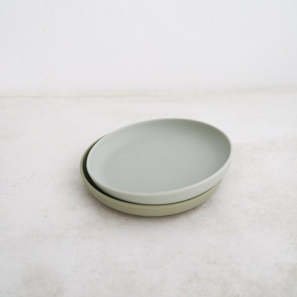 PLATE SET - CLOUD/OYSTER