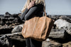 UNLINED LEATHER TOTE - NATURAL