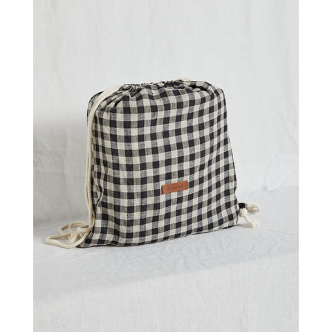 CLASSIC GINGHAM LINEN PICNIC RUG