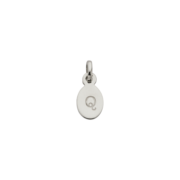 KIRSTIN ASH - Q - OVAL LETTER SILVER