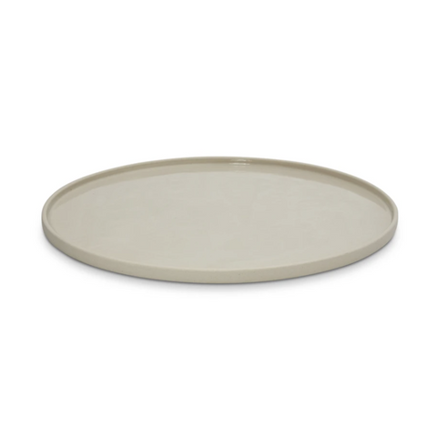 CLOUD ROUND PLATTER CHALK - LARGE