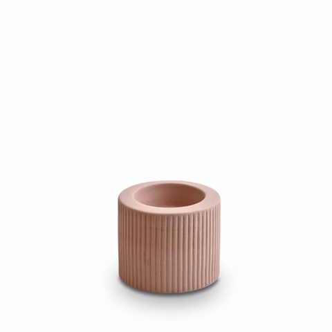 INFINITY CANDLE HOLDER OCHRE - SMALL