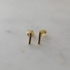 SPARKLE BAR STUDS BLACK - GOLD
