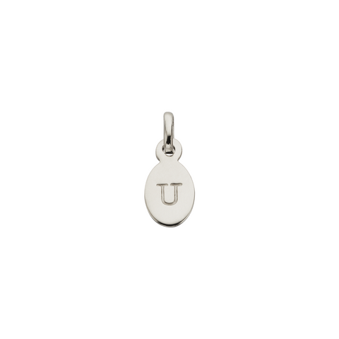 KIRSTIN ASH - U - OVAL LETTER SILVER