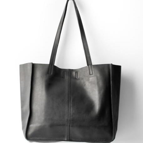 BABY UNLINED TOTE - BLACK