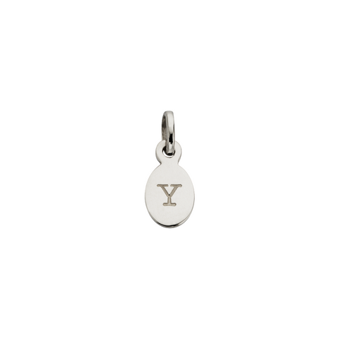 Y - OVAL LETTER SILVER
