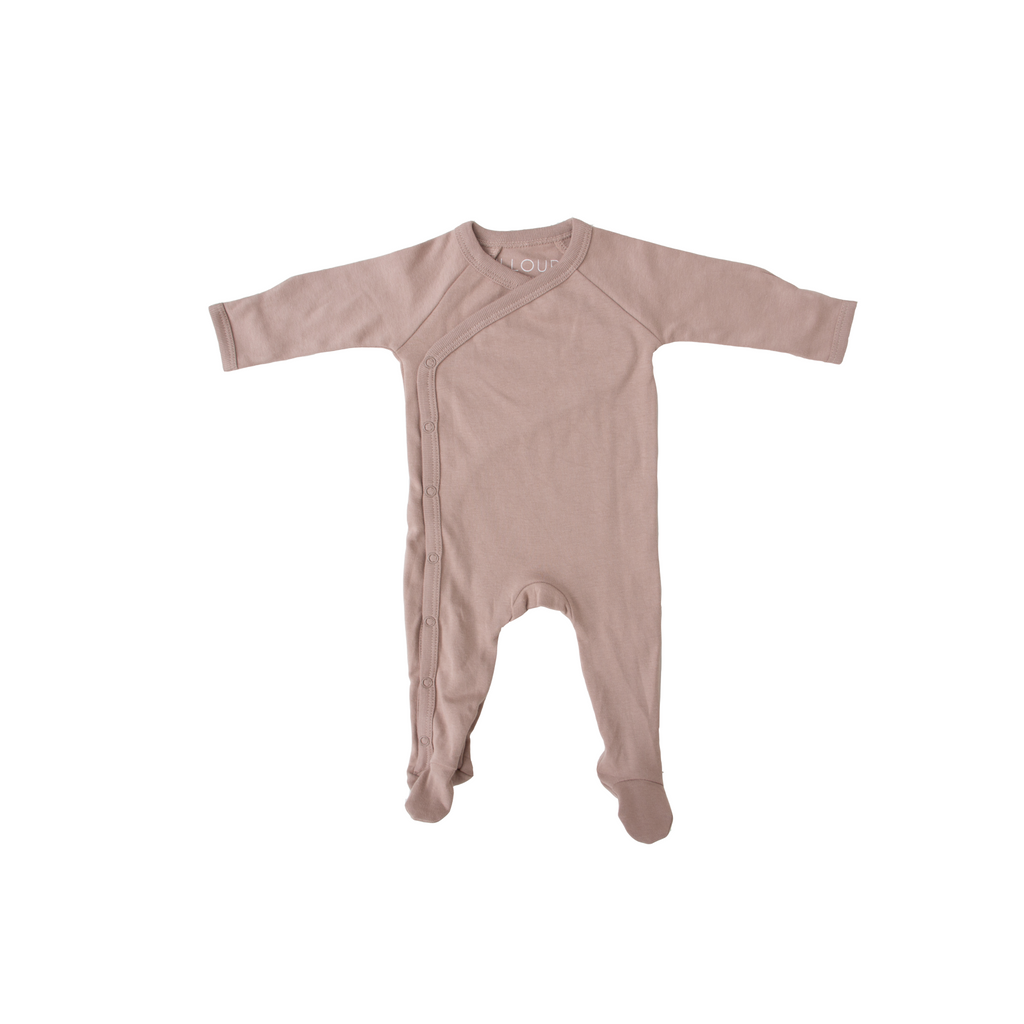FOOTED ROMPER - HAZELNUT