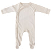 FOOTED ROMPER - NATURAL