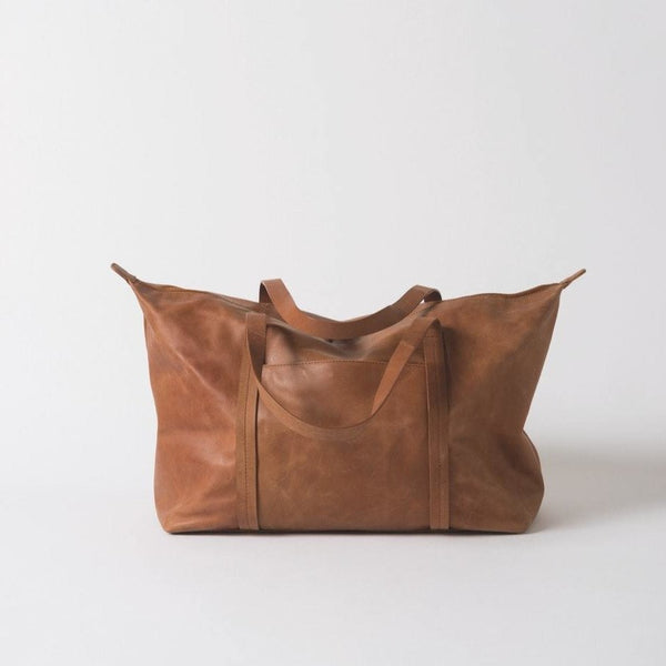 FRANK LEATHER DUFFLE BAG - TAN