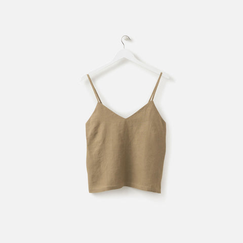 LINEN CAMISOLE PICKLE