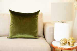 Iosis Cushion | Kaki Velvet 57x57