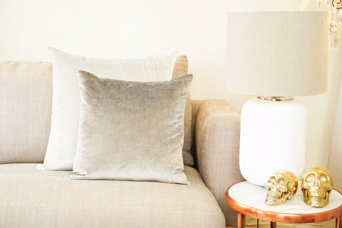 Iosis Cushion | Grey Velvet 45x45