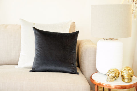 Iosis Cushion | Graphite Velvet 45x45