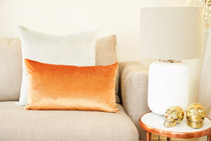 Iosis Cushion | Orange Velvet 33x57
