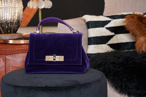 Bag  Purple Velvet Handbag