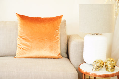 Iosis Cushion | Orange Velvet 57x57