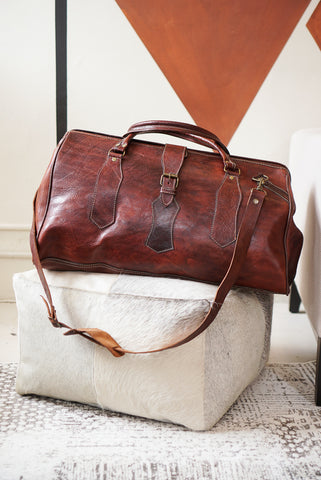 Leather | Slouch Bag Dark Brown 58x30x32