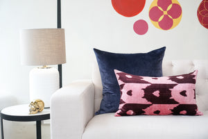 Silk Velvet Cushion | Queen Of Hearts