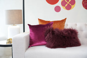 Fur Cushion | Plum Hide  40x40