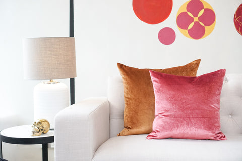 Iosis Cushion | Rose Velvet 45x45