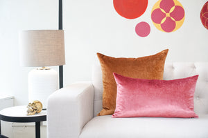 Iosis Cushion | Rose Velvet 33 x 57