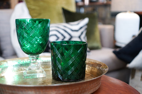 Glassware | Emerald Diamond Ice Bucket