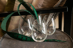 Glasses | Stemless Fishnet Design Set of 4