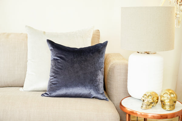 Iosis Cushion | Midnight Blue Velvet  57x57