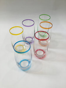 Glasses | Tall Coloured Glasses 13cm
