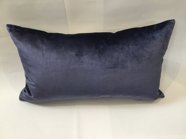 Iosis Cushion | Midnight Blue Velvet 33x57