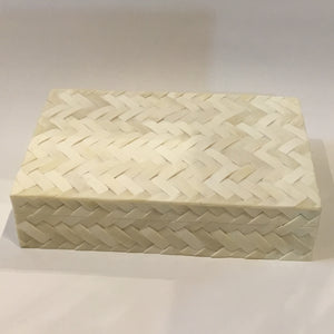 Braided Bone Inlay Box 21x31x8