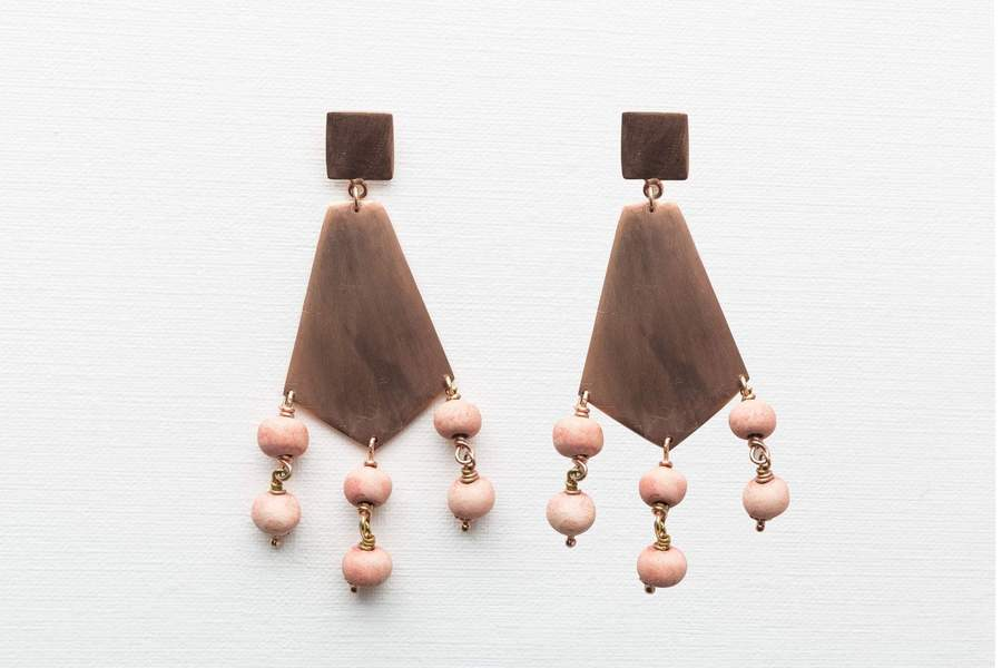 Klaylife | Shaka Earrings Stone.