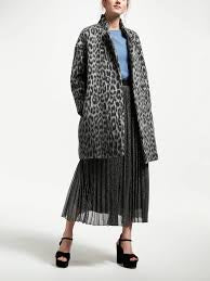 Marella | Grey Leopard Coat