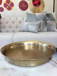 Tray | Round Brass Tray Large