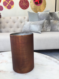 Glassware | Etched Orange Vase