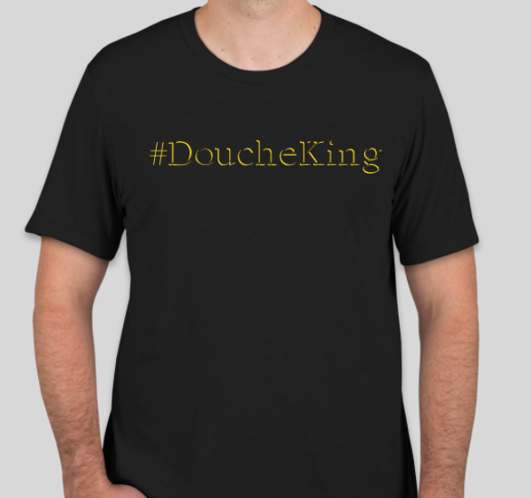 Black & Yellow Douchebag Shirt (Gawdy)