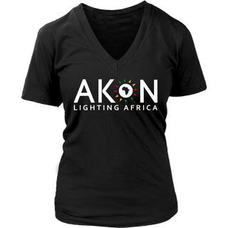 "WOMEN'S ""LIGHTING AFRICA"" V-NECK"