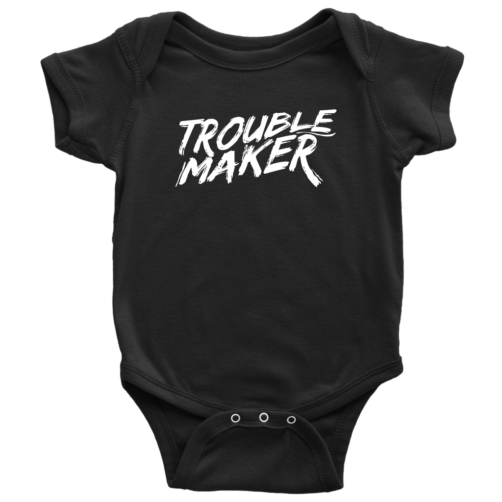 "BABY ""TROUBLE MAKER"" ONESIE"