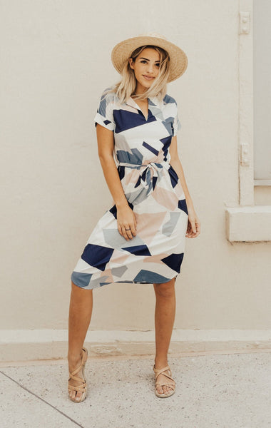 Feast - Geometric Pencil Dress