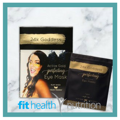 24K Goddess Collagen Vegan Gold Eye Masks Organic Skincare Mornington Peninsula